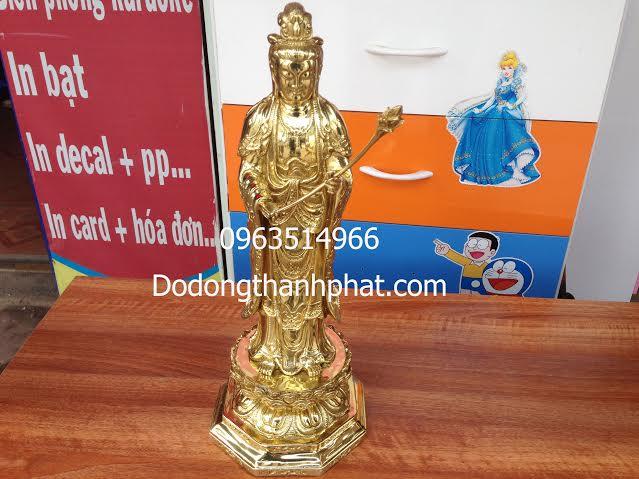Tượng Phật Đại Thế Chí Đứng Đồng Vàng