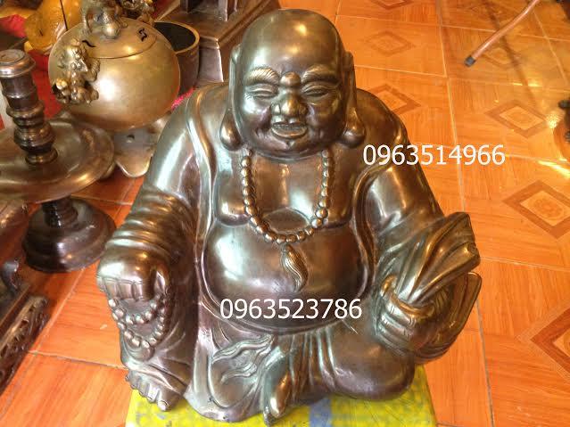 Tượng Phật Di Lạc Cười Đồng Vàng Hun Cổ