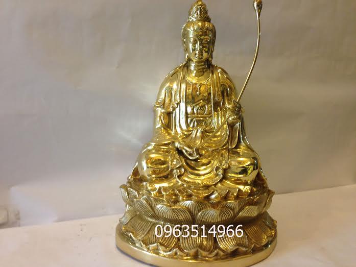 Tượng Phật Đại Thế Chí Ngồi Đài Sen Cao 48 cm
