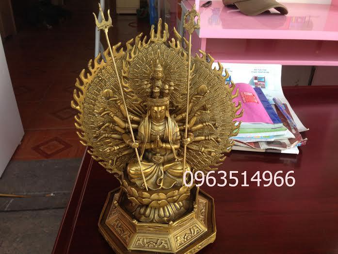 Tượng Phật Bồ Tát Trăm Tay Ngàn Mắt Cao 42 cm