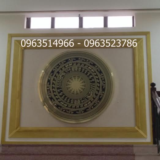 Tranh Mặt trống Đồng Ăn Mòn Đk 1,5 m