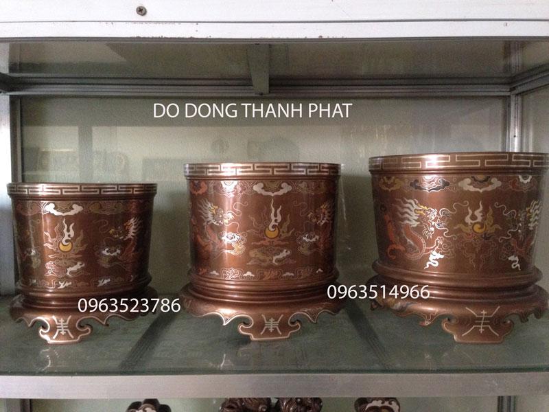 Bát Nhang Đồng Khảm Ngũ Sắc