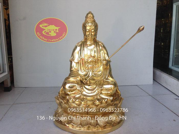 Tượng Đại Thế Chí Bồ Tát Bằng Đồng Cao 48 cm