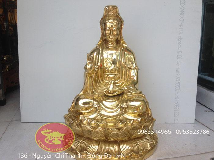 Tượng Quán Thế Âm Bồ Tát Bằng Đồng Cao 68 cm