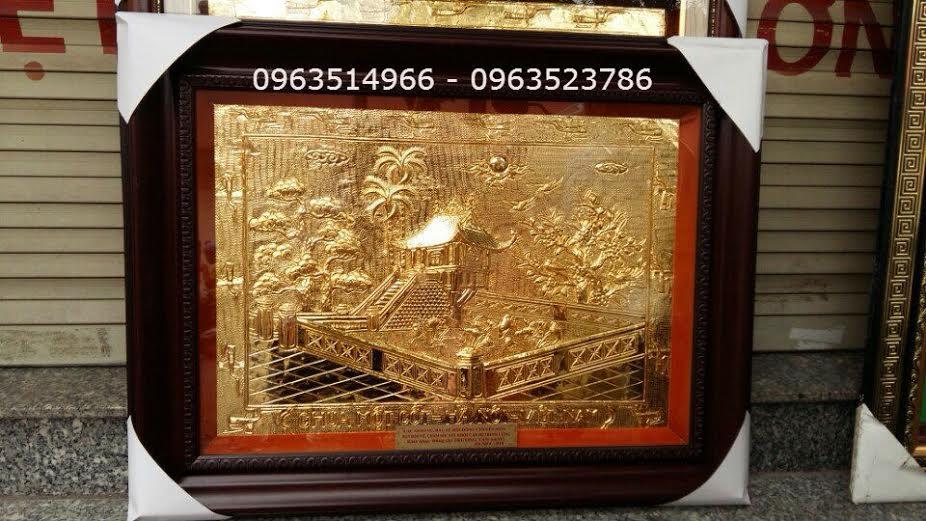 Tranh Đồng Khuê Văn Các Mạ Vàng 24 k