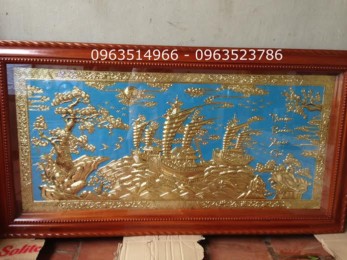 Tranh Đồng Thuận Buồn Xuôi Gió dài 1,7 m rộng 0,9 m