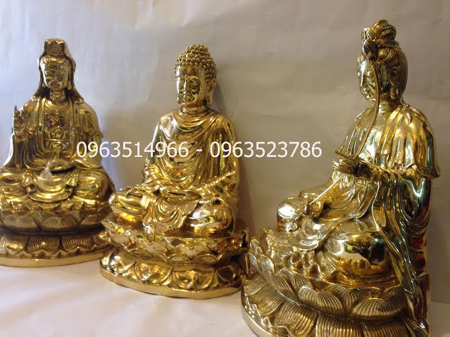 Tượng Phật Bằng Đồng Tam Thánh Tây Phương