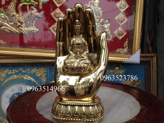 Bàn Tay Phật Quán Thế Âm Bồ Tát Bằng Đồng
