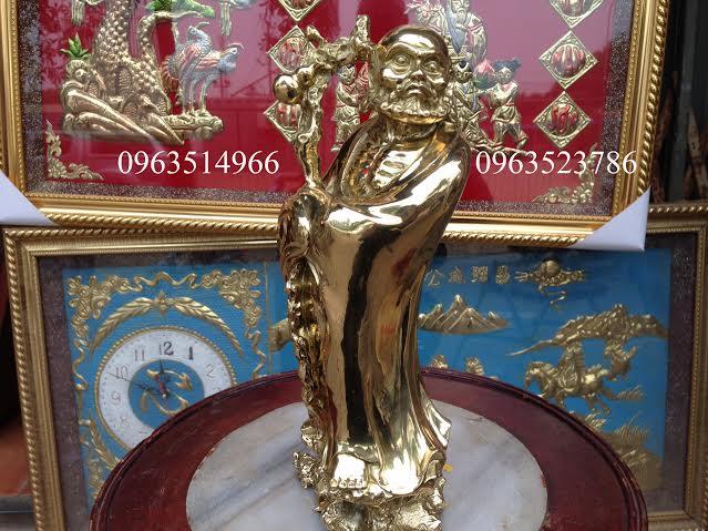 Tượng Đạt Ma Sư Tổ Đồng Vàng