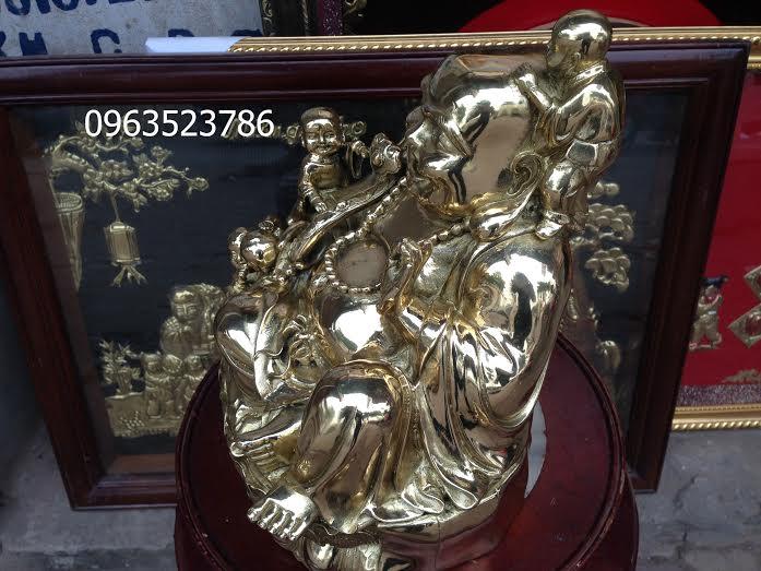 tượng di lạc đồng vàng