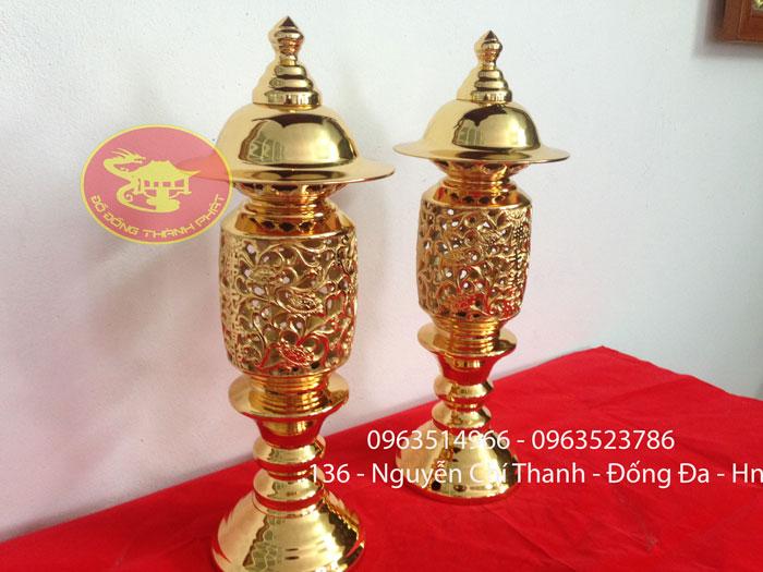 đôi đèn mạ vàng 24 k