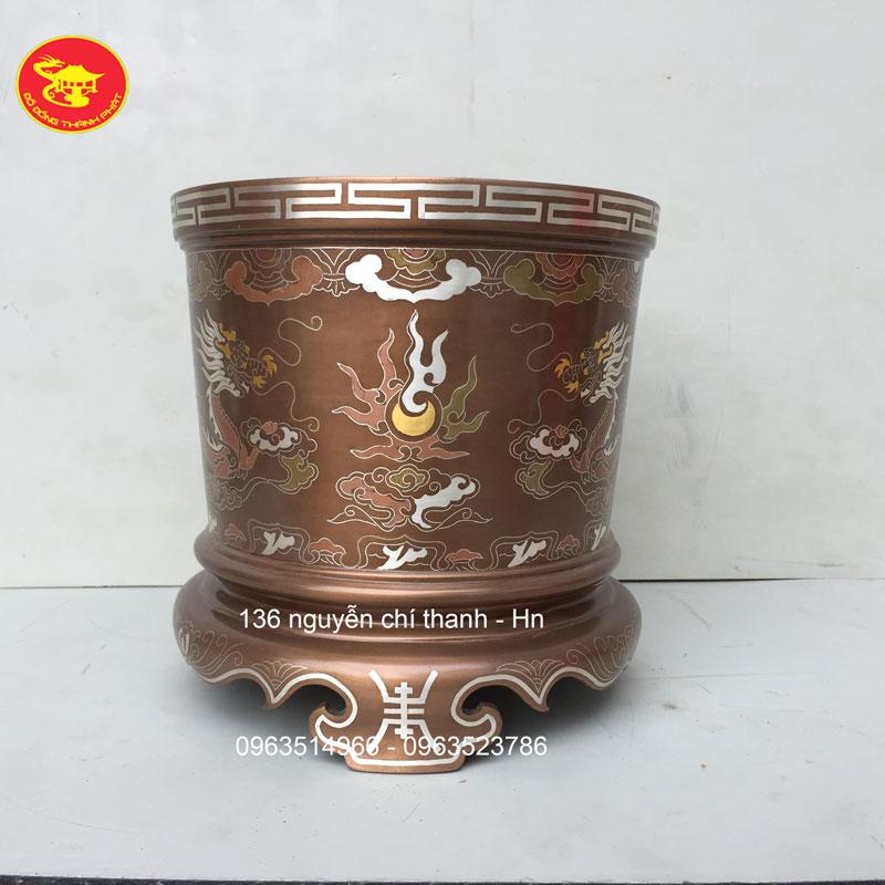 Bát Hương Khảm Vàng 9999