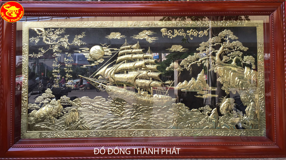 Tranh Đồng Thuận Buồn Xuôi Gió Hàng Thửa Đẹp