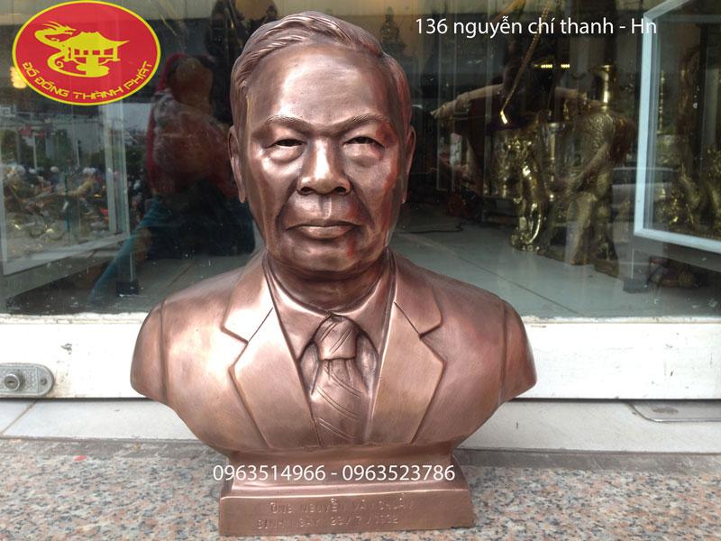 Đúc Tượng Chân Dung Đồng Cao 36 cm
