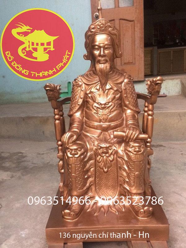 Đúc Tượng đồng Quan Nhà Trần Cả Ngai Cao 81 cm