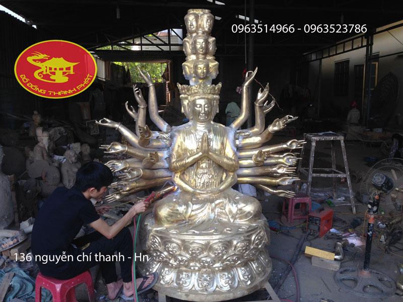Đúc Tượng Phật Tượng Trăm Tay Ngàn Mắt