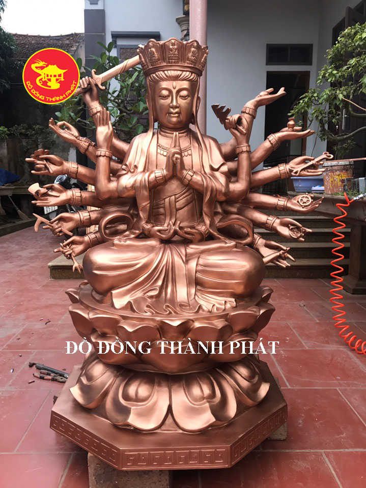 Đúc Tượng Phật Chuẩn Đề Cao 1,47 m