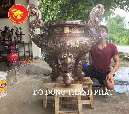 Lư Đồng Khảm Ngũ Sắc Cực Đẹp tại TP.HCM