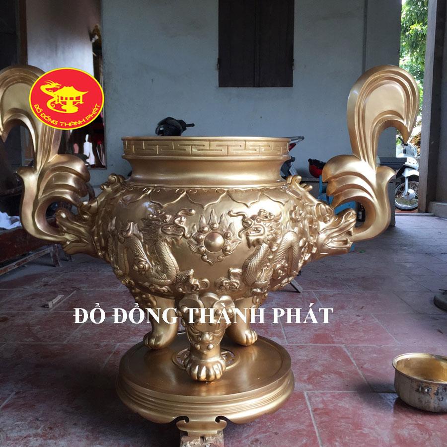 Lư Hương Thờ Cúng Đồng Vàng Đẹp