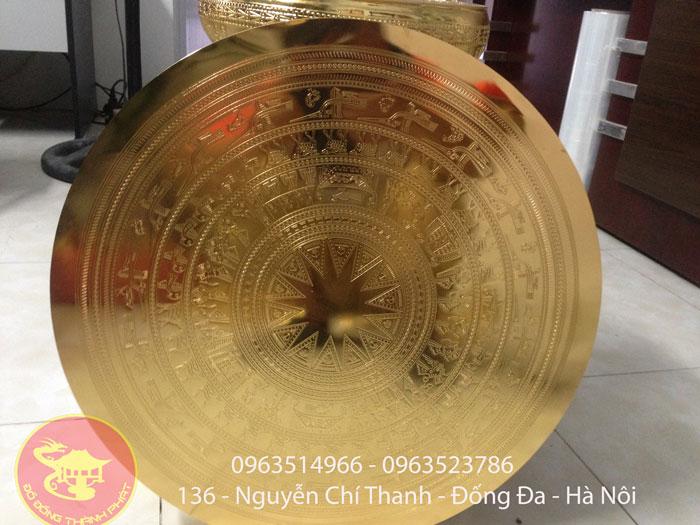Mặt Trống Đồng Ăn Mòn 1,2 m Mạ Vàng 24 k