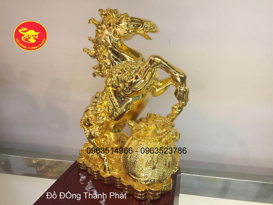 Ngựa Đồng Phong Thủy Mạ Vàng 24 k