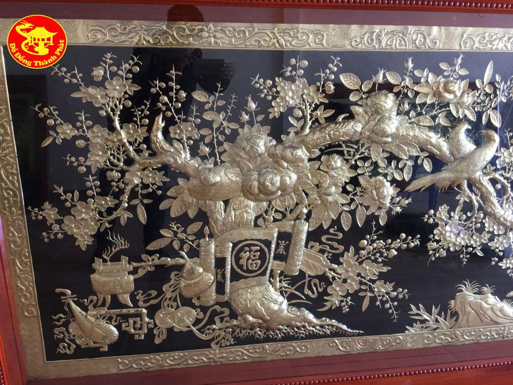 tranh bằng đồng vinh hoa phú quý