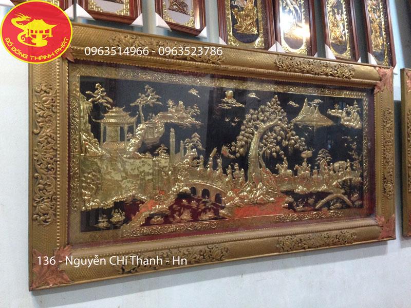 Bức tranh đồng quê bằng đồng dài 2,5 m