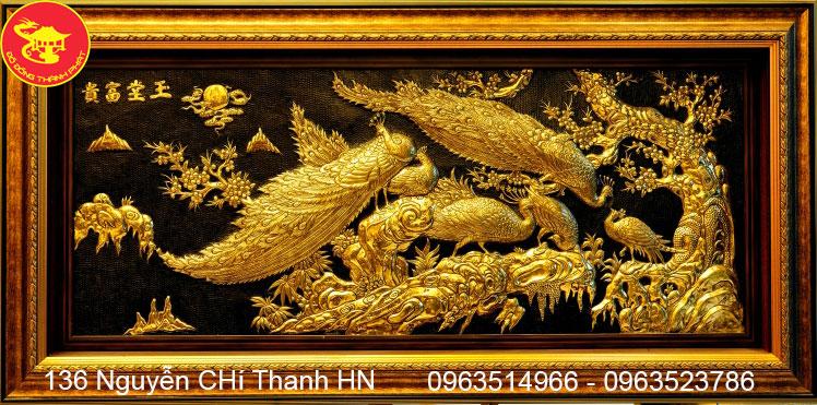 Tranh Đồng Vinh Hoa Phú Quý Mạ Vàng
