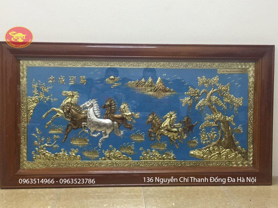 Tranh đồng quà tặng Bát Mã Thành Công 2,3 m