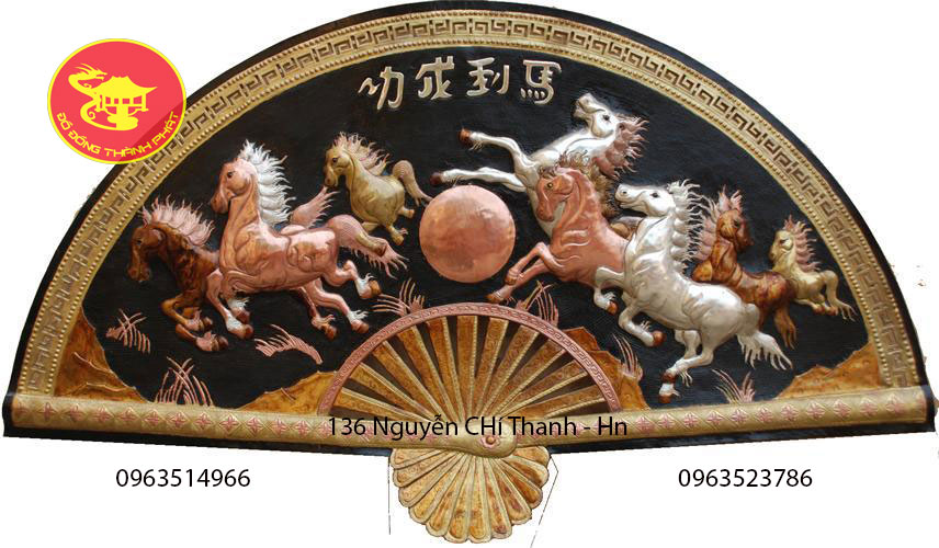 Tranh Quạt Đồng Bát Mã Thành Công