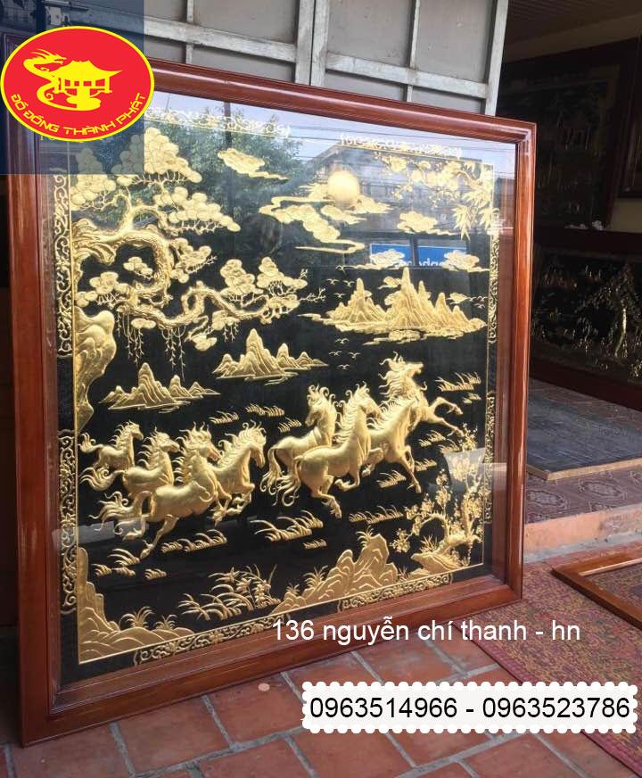 Tranh Đồng Bát Mã Thành Công Mạ Vàng