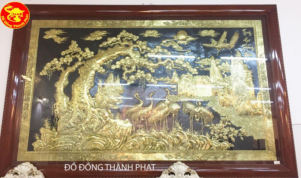 Tranh Đồng Cửu Hạc Trường Tồn Dài 2,62 m