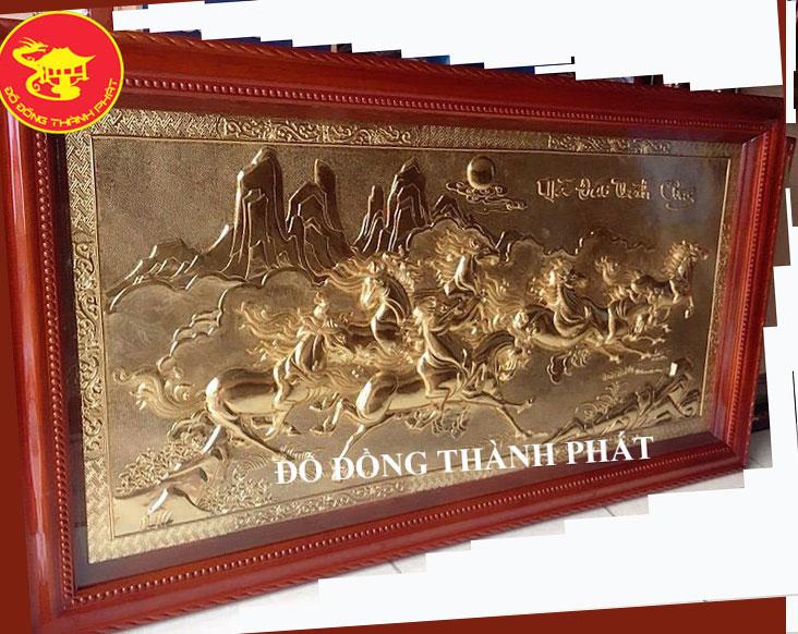 Tranh Đồng Mã Đáo Thành Công Mạ Vàng 24 k
