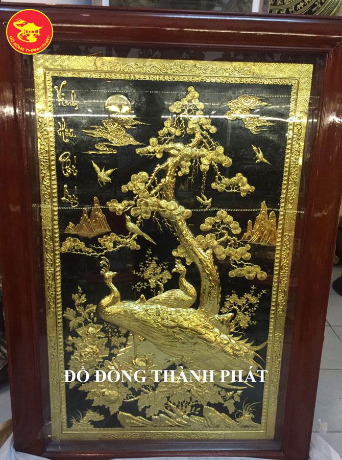 Tranh Vinh Hoa Phú Quý Đồng Mạ Vàng