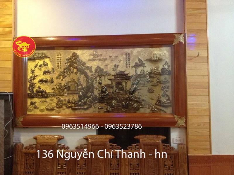 Tranh Đồng Quê Hun Giả Cổ Dài 2,3 m