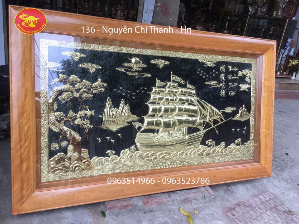 Tranh Đồng Mỹ Nghệ Thuận Buồn Xuôi Gió