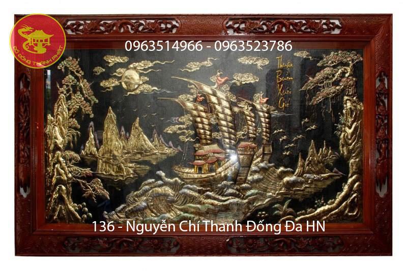 Tranh Đồng Thuận Buồn Xuôi Gió Phù Điêu Đẹp