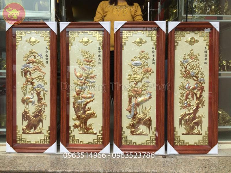 Tranh Đồng Tứ Quý đẹp