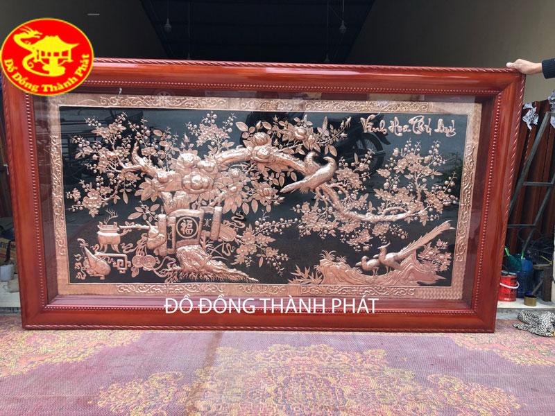 Tranh Vinh Hoa Phú Quý Bằng Đồng Đỏ