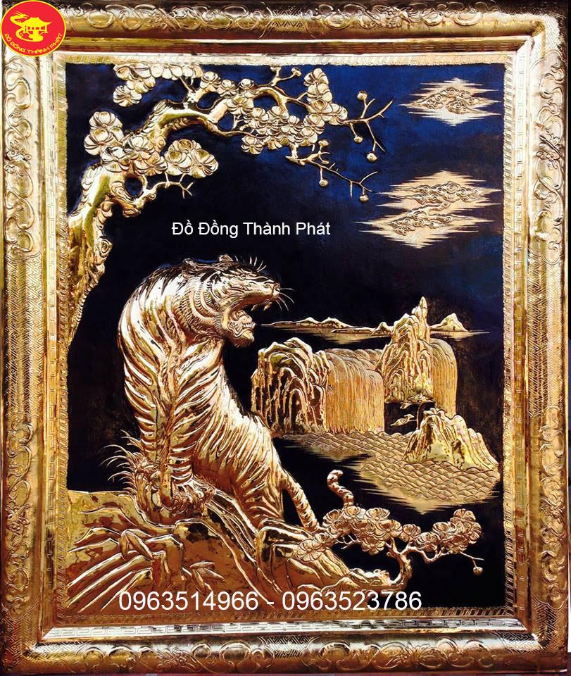 Tranh Phong Thủy Anh Hùng Sơ Lâm Mạ Vàng