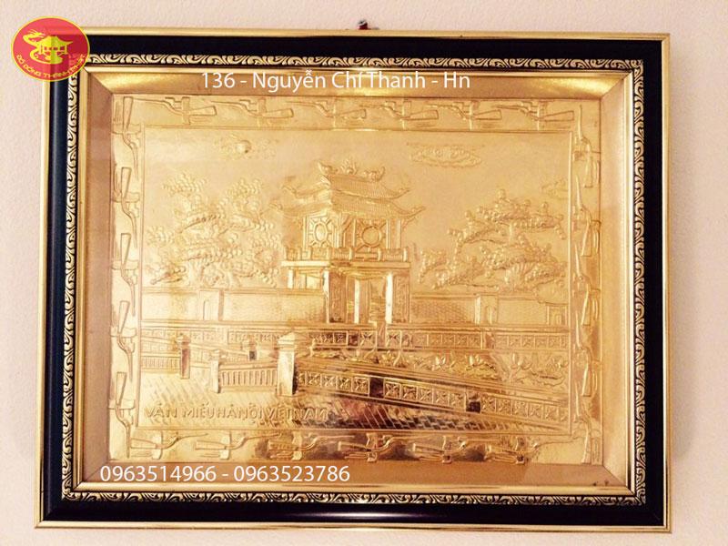 Khuê Văn Các Bằng Đồng Mạ Vàng 24 k