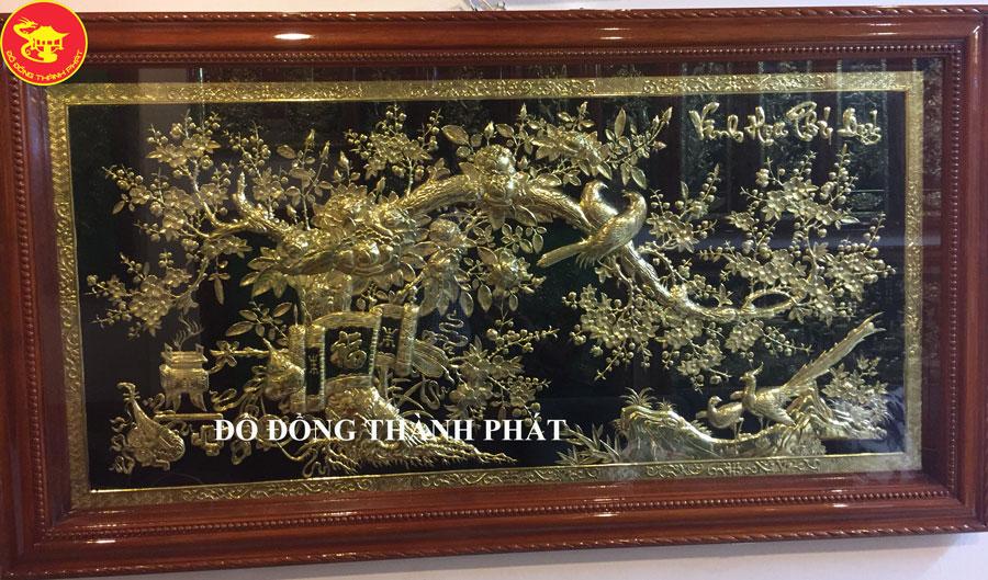 Tranh Đồng Vinh Hoa Phú Quý Đẹp