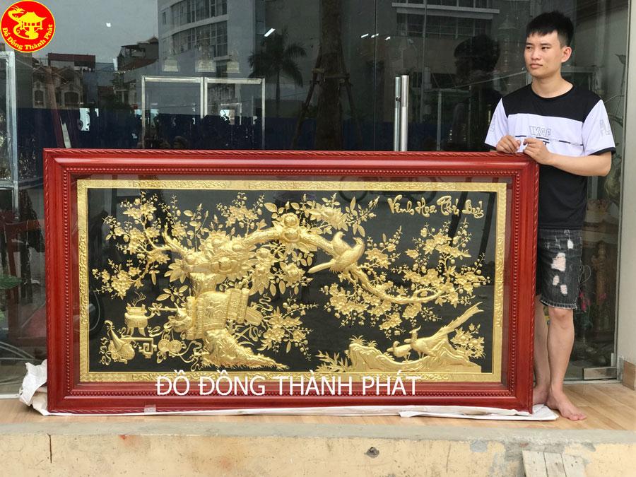 tranh phủ vàng ròng cao cấp