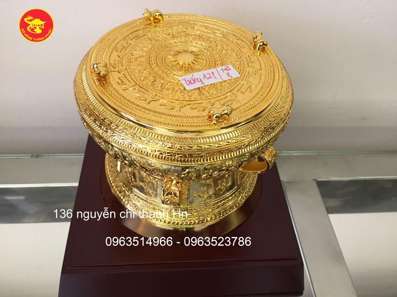Trống Đồng Mạ vàng Đk 12 cm