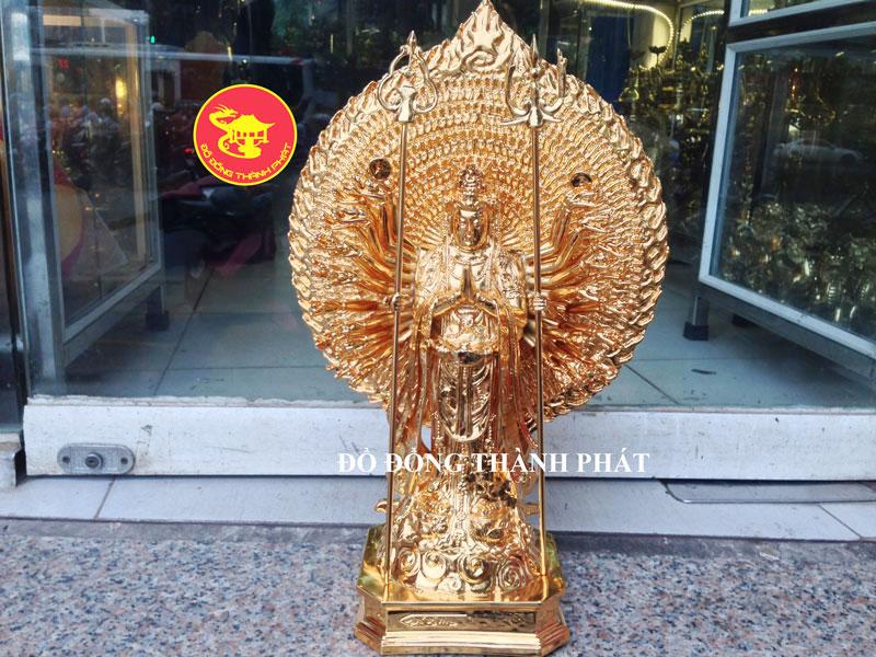 Tượng Bồ Tát Thiên Thù Thiên Nhãn Mạ Vàng