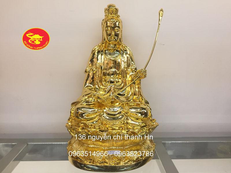 Tượng Đại Thế Chí Bằng Đồng Mạ vàng 24 k