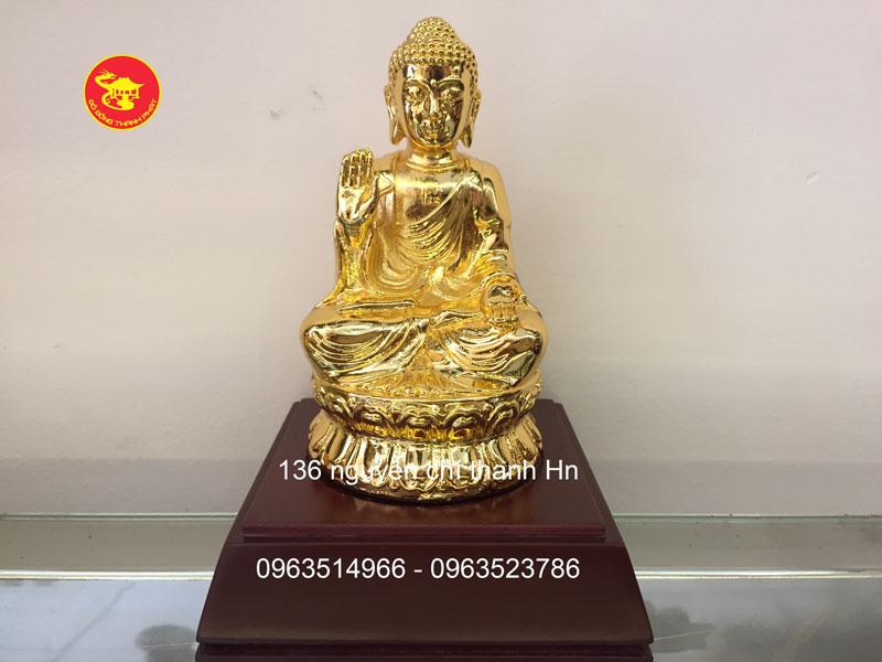 Tượng Phật A DI Da Mạ Vàng Để Ô Tô