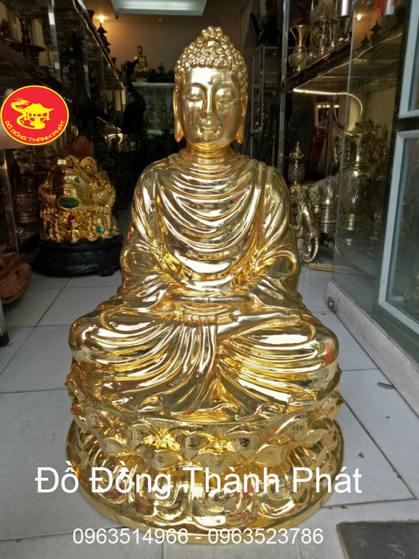 Tượng Bổn Sư Bằng Đồng Cao 70 cm