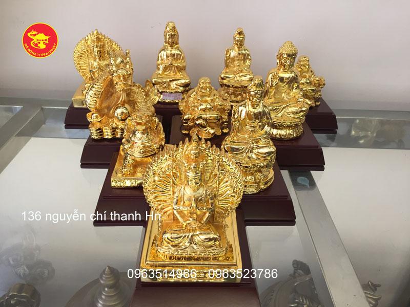 Tượng Phật Bằng Đồng Mạ vàng Để Ô Tô