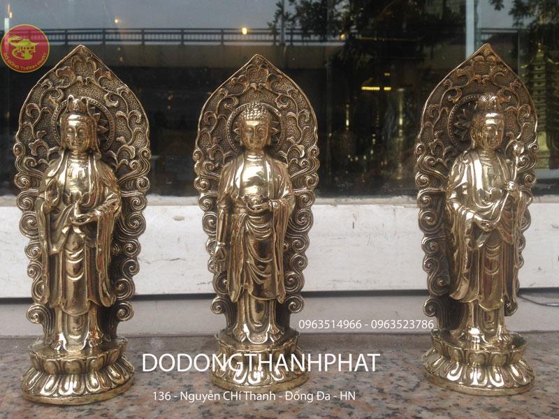 Tượng tây Phương Tam Thánh Bằng Đồng